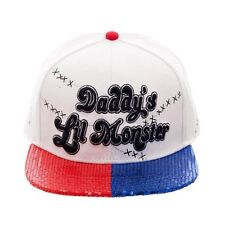 Official Suicide Squad Daddy's Lil Monster Sequin Bill Snapback Cap