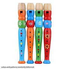 Wooden Piccolo Flute Sound Musical Instrument Early Education Toy for Kid C8XM