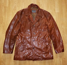 MEN'S AVIATRIX GENUINE BROWN LEATHER JACKET XXL