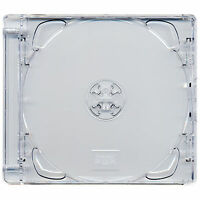 5 x CD Super Jewel Box 10.4mm Standard Cases for 1 or 2 Disc - Pack of 5