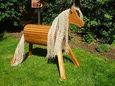 100cm Holzpferd Holzpony Voltigierpferd Spielpferd Pferd Pony mit Maul NEU