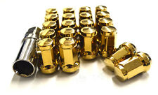 NNR CLOSED ENDED HEPTAGON LUG NUT LOCK SET GOLD 12X1.25MM 20 PIECES