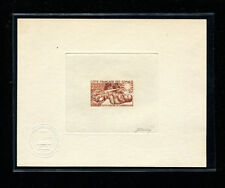 Somali Coast 1965 Medicine TB Scott B16 Signed Sunken Die Artist Proof in Brown