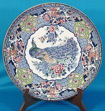 """Vintage Peacock Imari Style Plate 12 1/2"""""""