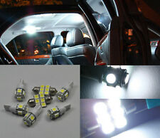 12pcs White LED Light Interior Number plate Package Kit For Toyota Camry 12-2017