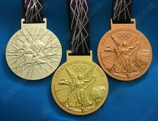 Complete Set of 3 London 2012 Olympics Medals Gold Silver Bronze with Ribbons