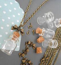 magnifique  kit création collier bronze fiole