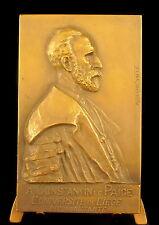 Médaille au mathématicien belge Constantin Le Paige sc Adelin Salle c 1900 medal
