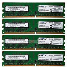 Micron 8GB 4x2GB 2RX8 PC2-6400 6400U DDR2-800 240-PIN UDIMM Desktop Memory CL6