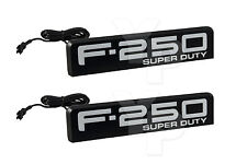 2008-2010 Ford F-250 Super Duty Fender Emblems White Amber or Red Illumination