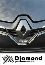 Renault Clio 4 2013+  CARBON FIBRE EFFECT FRONT BADGE EMBLEM COVER,*OFFER*