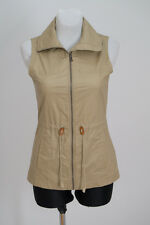 WOMENS COLUMBIA ZIP VEST WAISTCOAT WAKSED BEIGE SIZE XS/S XSMALL/SMALL EXC