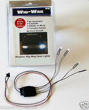Wig-Wag Head / Tail Lighting For Model Police Cars & Fire Trucks - 4 WHITE LEDs