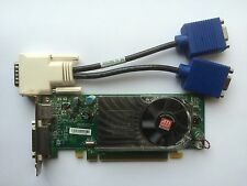 SFF DUAL DELL Y104D RADEON HD 3450 256MB PCIE TV-OUT WINDOWS 8 WITH VGA SPLITTER
