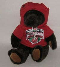 HTF NCAA Rose Bowl 2011 Wisconsin Badgers Teddy Bear w/ Hoodie HIGH QUALITY