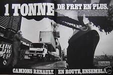 PUBLICITÉ 1985 CAMIONS RENAULT G260 VÉHICULES INDUSTRIELS - ADVERTISING
