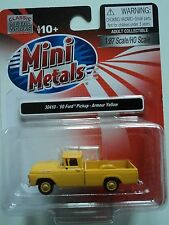CLASSIC METAL WORKS   1960 FORD  PICKUP   ARMOUR YELLOW  1/87  HO   CAR  PLASTIC
