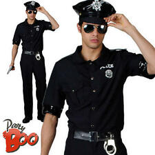 Police Man Large Mens Fancy Dress Uniform Terminator Movie Cop Adult 80s Costume