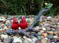 Miniature Dollhouse FAIRY GARDEN ~ Mini Cardinals Birds on Branch ~ NEW