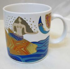 Laurel Burch The Sea Goddess Signed Made in Japan Mermaid Riding Fish Coffee Mug