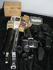 PENTAX HEILAND WITH EXTRAS MANUALS BOX LENSES METERS FLASHES CASES