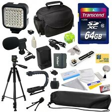 Advanced Accessories Kit for Canon VIXIA HF R42 HFR42 R40 HFR40 R400 HFR400