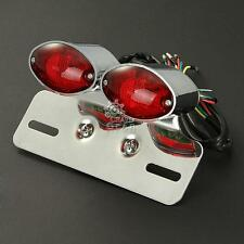 New Custom Motorcycle Brake License Plate Tail Light With Integrated Turn Signal