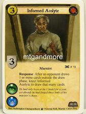 A game of thrones LCG - 1x informed Acolyte #072 - Poniente draft Pack