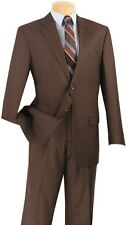 Men's Suit Single Breasted 2 Buttons 2 Piece Classic Fit Solid Colors 2C900-2