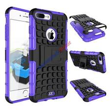 Hybrid Gel Rubber Tire Pattern ShockProof Stand Case Protector Cover For iPhone