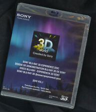 New! Sony 3D TV Demo Blu Ray Disc 2010 V1 1080P(Ok w/Samsung, LG, Vizio HD TVs)