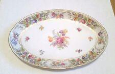 """Schumann Bavaria China Empress Dresden Flowers Oval Serving Platter 14 1/2"""""""