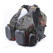 Adjustable Outdoor Multi-pocket Fly Fishing Vest Backpack Chest Mesh Bag New