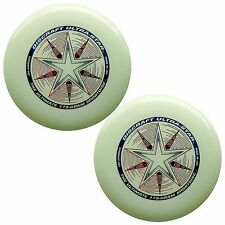 Discraft ULTRA-STAR 175g Ultimate Frisbee Disc (2 Pack) GLOW/GLOW