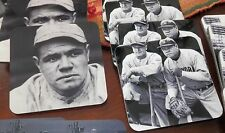 (4) Four New York Yankees Photo Drink Coasters Babe Ruth Lou Gehrig Cork Backs