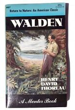Walden Return To Nature: An American Classic A Mentor Book Henry Thoreau 1953 ED