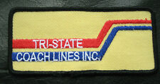 "TRI STATE COACH LINES EMBROIDERED SEW ON ONLY PATCH TRANSPORTATION 4 1/2"" x 2"""