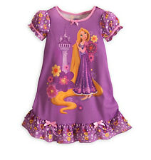 Disney Store Tangled Rapunzel Purple Princess Nightgown Girls Size Large 10 NWT