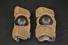 ISSUED USGI ELBOW PADS - COYOTE BROWN WITH BLACK ELBOW SHELL - MEDIUM - USA MADE