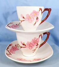 2 Vintage Metlox Poppytrail Peach Blossom Cup & Saucer Sets Vernon Kilns 1950s