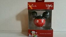 Hallmark 2016 Mickey Mouse Christmas Ornament Red Box New