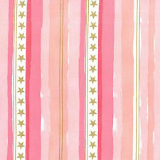 Metallic Stars & Stripes Pink  Michael Miller Fabric FQ +More 100%Cotton