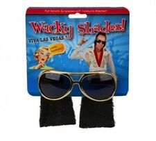 Elvis Style Novelty Wacky Shades PARTY GLASSES WITH SIDE BURNS Funky Dress UK