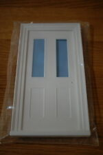 1/12th scale Victorian small front door with clear glass panels