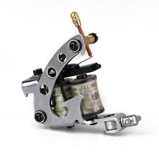 Professional Silver Tattoo Machine Gun for Shader Liner 8 Wrap Coils