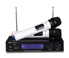New Dual Channel UHF Wireless Microphone System Handheld T90A Mic