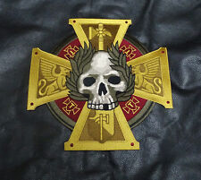 CELTIC CROSS SKULL INFIDEL CRUSADER 10 INCH XXL BIKER MC JACKET VEST PATCH