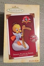 Hallmark Keepsake Looney Tunes Tweety Plays An Angel 2005 Ornament - NIB