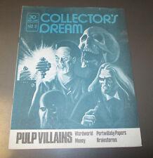 1970's Collector's Dream v.1 #2 Magazine Fanzine FVF Pulp Villains