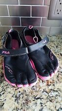 Fila SkeleToes Black Pink EZ Slide Barefoot Athletic Running Shoes Women's SZ 8